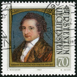 LIECHTENSTEIN - 1981: shows portraits of Goethe (1749-1832)
