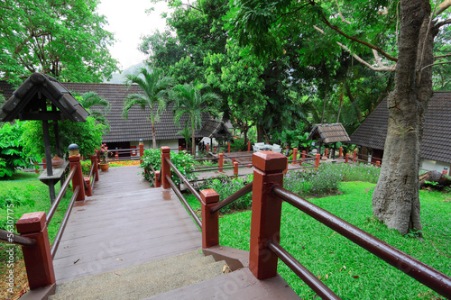 Track among tropical garden by Thai style