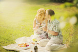 Couple on summer picnic