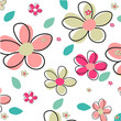 Seamless Summer Flower Vector Background