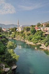 View of Mostar in Bosnia Hercegovina