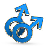 Male love symbol - 3D computer generated image