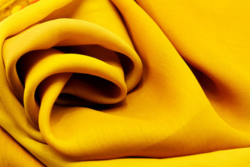 Golden satin textile