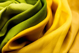 Golden and green textile