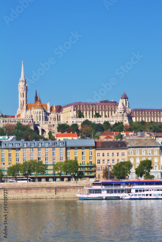 View of Fisherman's Bastion and St. Matthias church