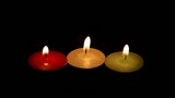 Three color of candles