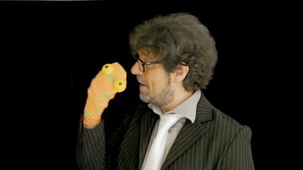 Old man puppet sock odd