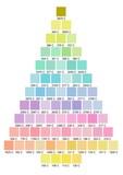 vánoční strom barevná paleta