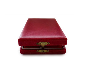 Red leather gift box