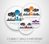 Worldwide communication and social media concept art