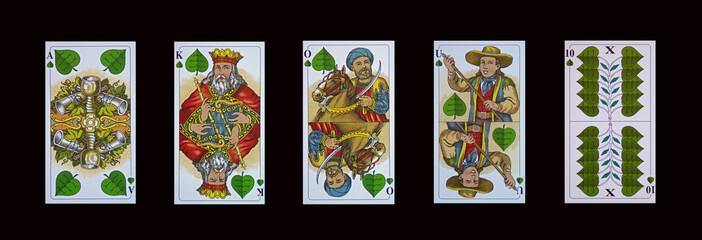 Schafkopf-Tarock - Trumpfkarten-Grün