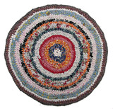 Traditional Russian round knit Mat handmade. poster