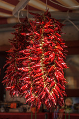 Red pepper hanging outdoor