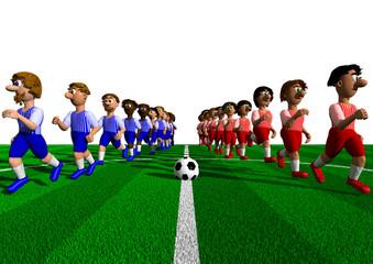 Fußballspiel - Einlauf