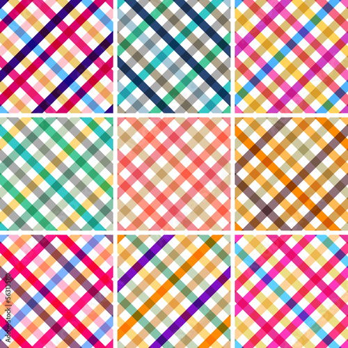 retro style pattern set, with sweet striped colors