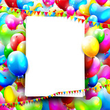 Colorful birthday background with place for text