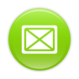 Bouton internet e-mail icon green