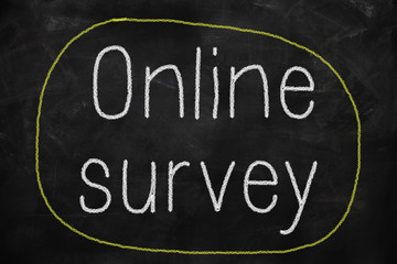 Online survey on a blackboard