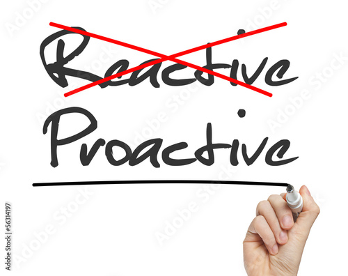 Proactive and Reactive handwritten