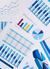 Charts and graphs, business background