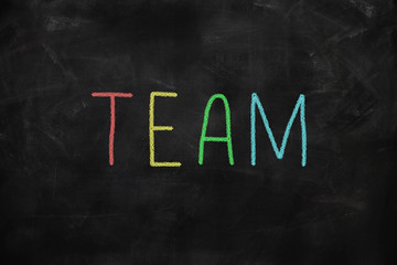 Leadership concept - team