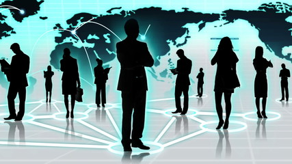 3D Images People Connecting Global Social Business Networking Sites