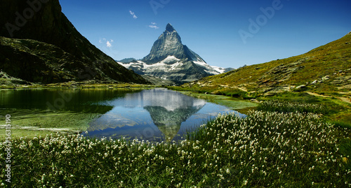 Matterhorn reflecting in the lake