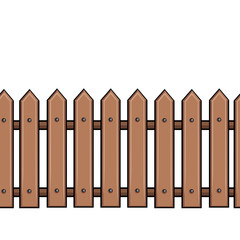 vector seamless cartoon brown fence