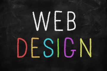 Web design colorful concept