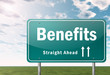 "Highway Signpost ""Benefits"""