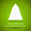green snowy christmas tree