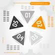 orange triangular infographic ring
