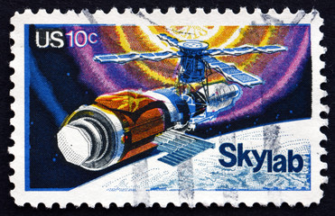 Postage stamp USA 1974 Skylab, Space Station
