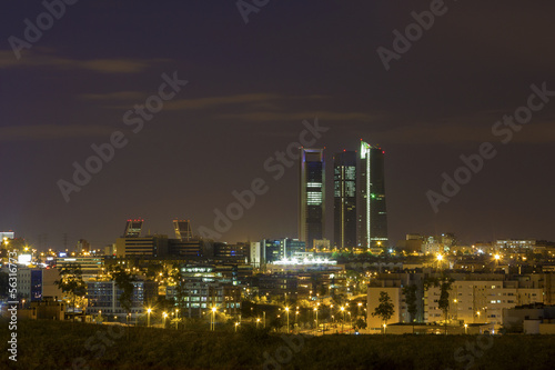 Madrid skyline at night