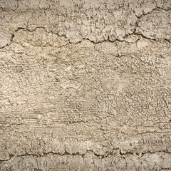 Textured background:  Closeup abstract cracked clay background