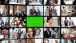 CG Video Wall Green Screen Business People