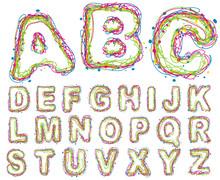 Funny ABC.  Vector.