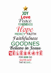 Christmas abstract tree banner