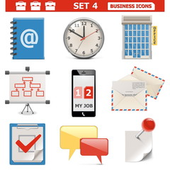 Vector Business Icons Set 4