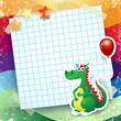 Dragon and balloon, custom background