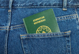 Azerbaijan passport in the back jeans pocket