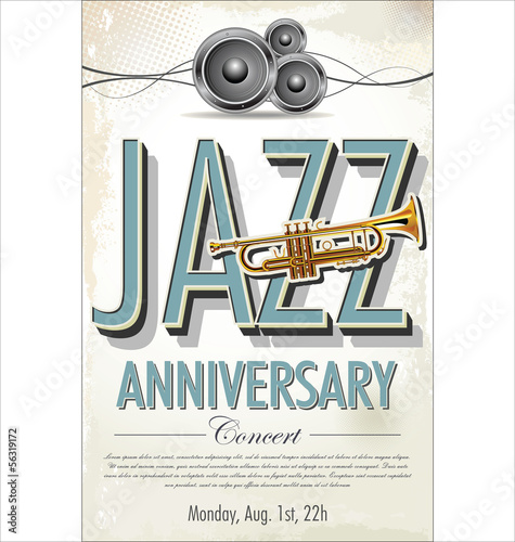 Jazz concert poster © totallyout