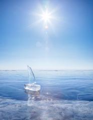 Jacht lodu na zimowe Baical