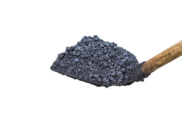 shovel full of asphalt