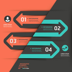 Modern business arrow infographics template. Vector illustration