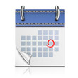 Realistic Detailed Calendar Icon - 56321707