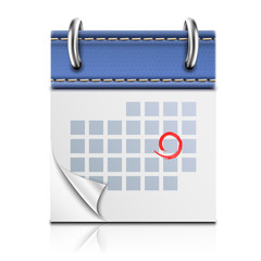 Realistic Detailed Calendar Icon