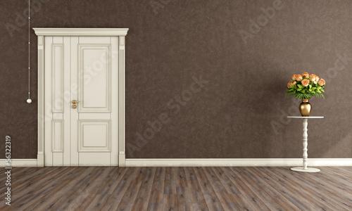 Vintage room with old door