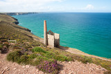 Abandoned Wheal Coates tin mine on the coast of Cornwall.