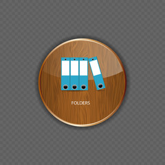 Folders wood application icons vector illustration